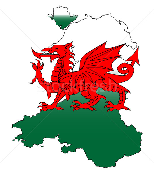 Wales and the Dragon Stock photo © Bigalbaloo