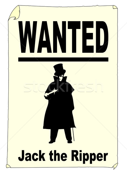 Wanted Jack the Ripper Stock photo © Bigalbaloo