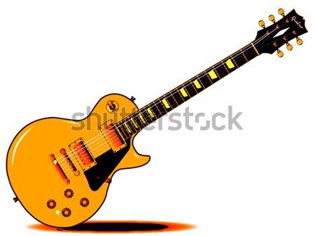 Cherry Sunburst Guitar Stock photo © Bigalbaloo
