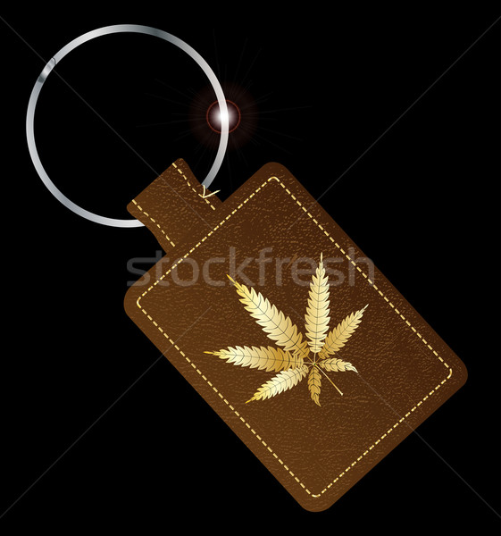 Marijuana Key Fob Stock photo © Bigalbaloo