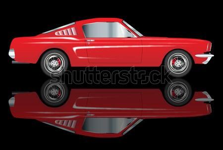 Rápido mini carro típico reflexões Foto stock © Bigalbaloo
