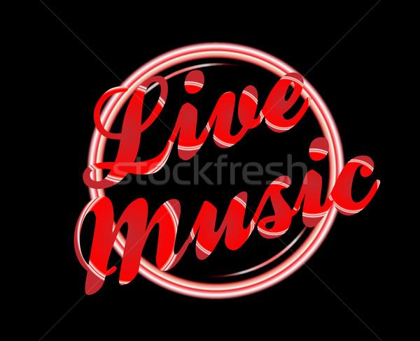 Live Music Florescent Light Stock photo © Bigalbaloo