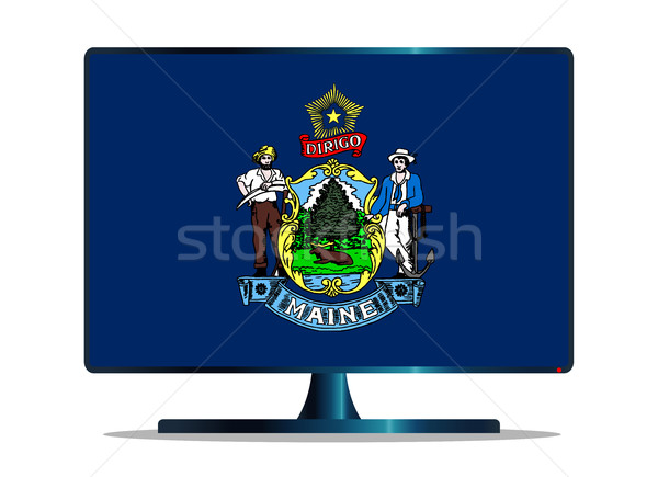 Vlag tv computerscherm computer monitor Mac Stockfoto © Bigalbaloo