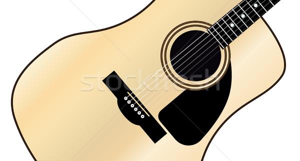 Maple Acoustic Guitar Stock photo © Bigalbaloo