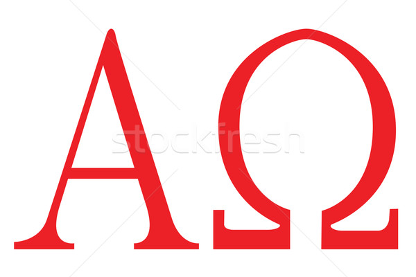 Stock photo: Alpha Omega