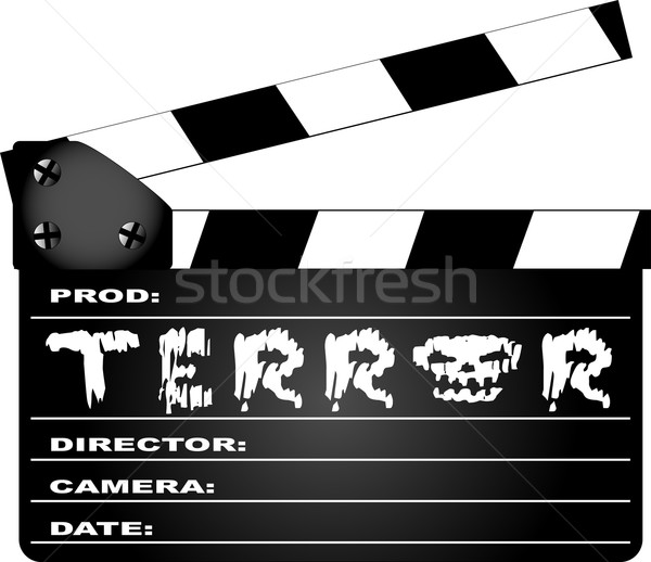 Terror Clapperboard Stock photo © Bigalbaloo