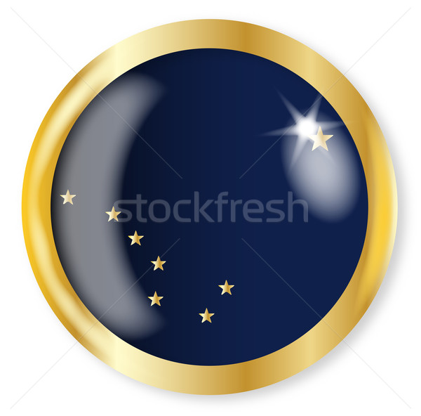 Alaska Flag Button Stock photo © Bigalbaloo