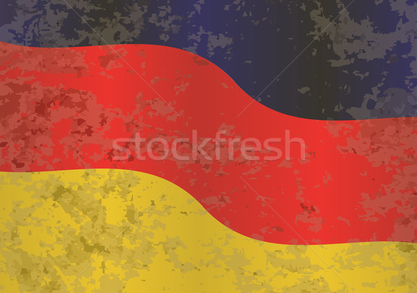 флаг Гранж Германия красный черный золото Сток-фото © Bigalbaloo