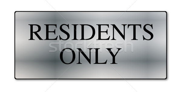 Residents Only Metal Sign Stock photo © Bigalbaloo