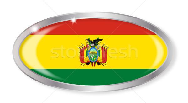 ボリビア フラグ オーバル ボタン 銀 孤立した ストックフォト © Bigalbaloo