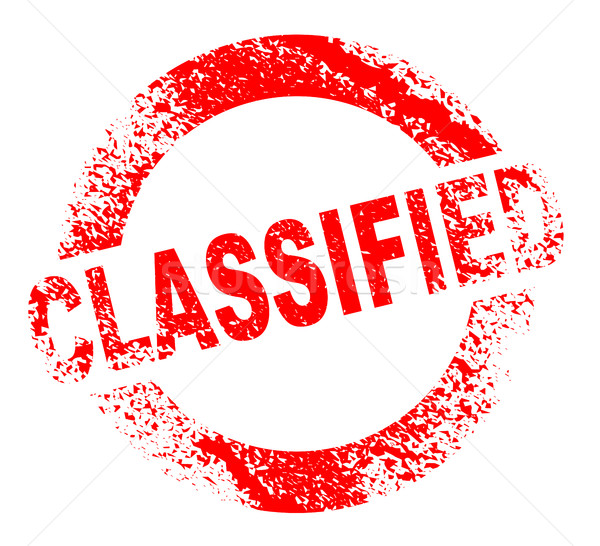 Classified Rubber Stamp Stock photo © Bigalbaloo