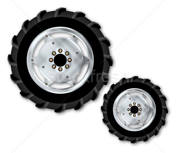 Front And Rear Tractor Wheels Stock photo © Bigalbaloo