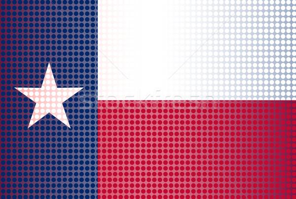 Teksas bayrak ABD nokta star beyaz Stok fotoğraf © Bigalbaloo