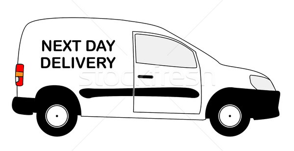 Small Next Day Delivery Van Stock photo © Bigalbaloo