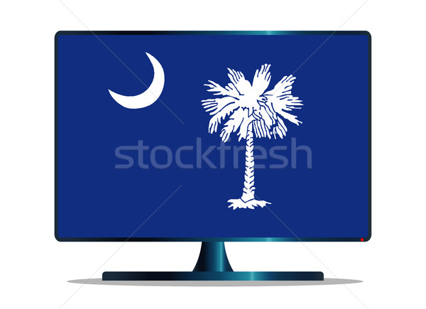 南 フラグ テレビ コンピュータの画面 コンピュータ モニター ストックフォト © Bigalbaloo