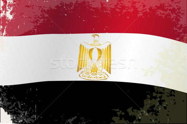 Egypt Flag Grunge Stock photo © Bigalbaloo