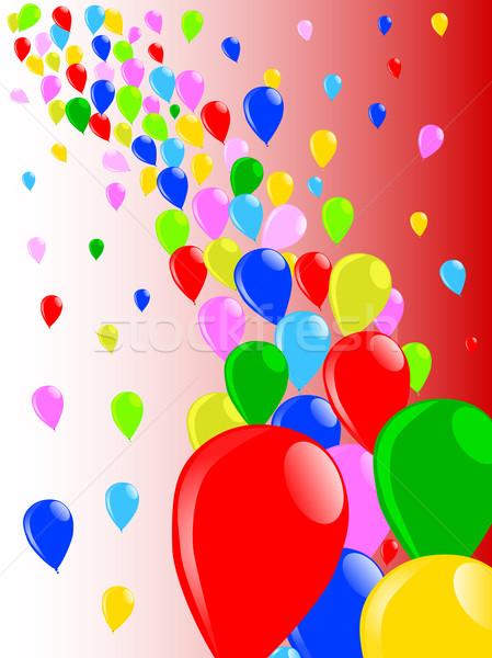 Uçmak uzak balonlar uçan düğün parti Stok fotoğraf © Bigalbaloo