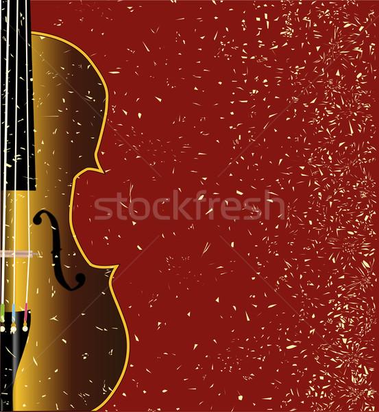 Stock photo: Grunge Violin