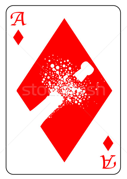 Ace of Diamonds Stock photo © Bigalbaloo