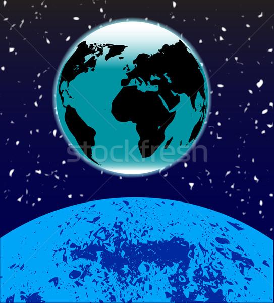 Earth Rise Stock photo © Bigalbaloo