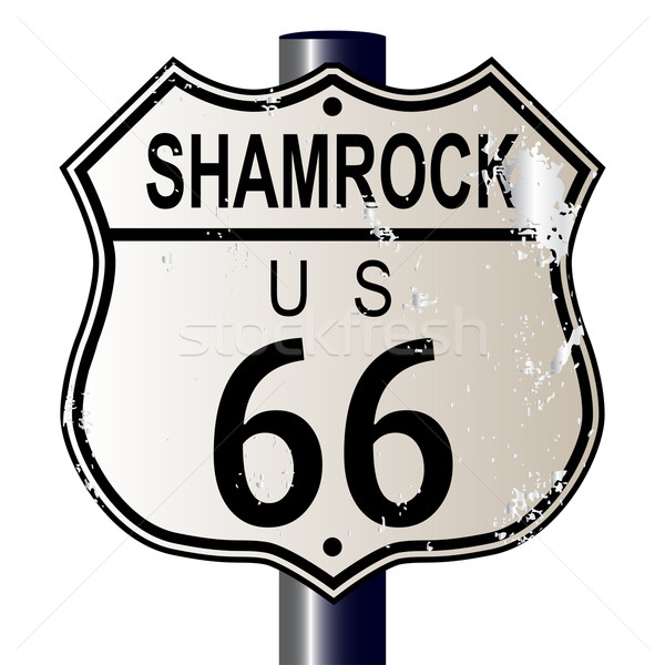 Shamrock Route 66 Sign Stock photo © Bigalbaloo