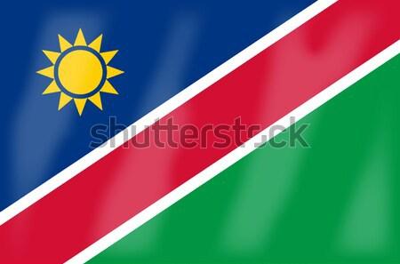 Namibya bayrak Afrika ülke Afrika Stok fotoğraf © Bigalbaloo