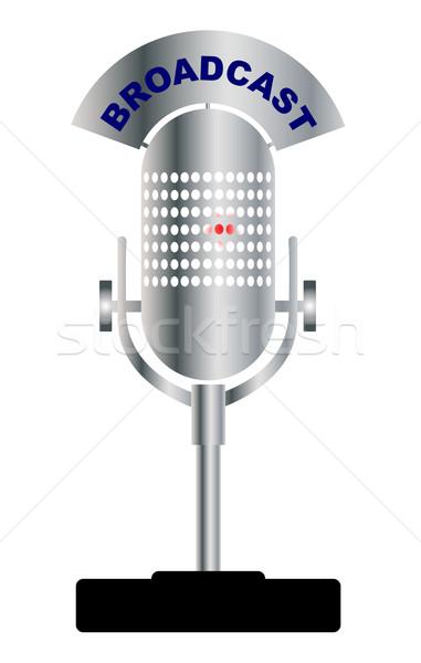 Broadcast Microphone Stock photo © Bigalbaloo