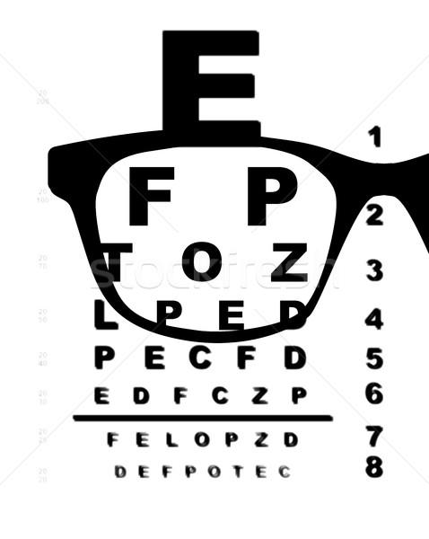 視力検査 グラフ 典型的な 白 背景 眼鏡 ストックフォト © Bigalbaloo