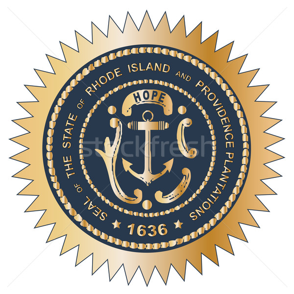 Grand Seal of Rhode Island Stock photo © Bigalbaloo