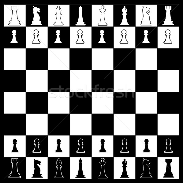 Chess Board Layout Stock photo © Bigalbaloo
