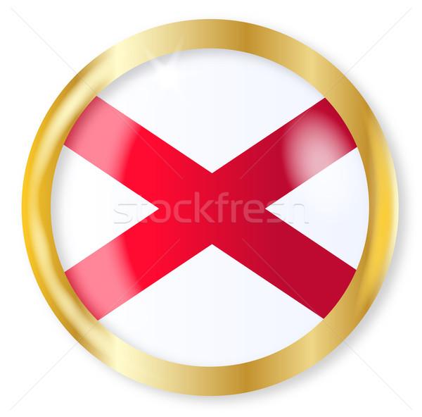 Alabama bayrak düğme altın Metal Stok fotoğraf © Bigalbaloo