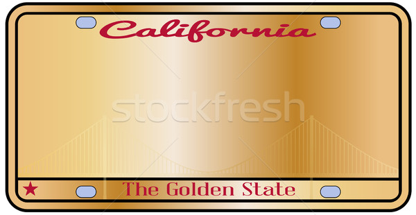 California License Plate Stock photo © Bigalbaloo