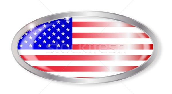 United States Flag Oval Button Stock photo © Bigalbaloo