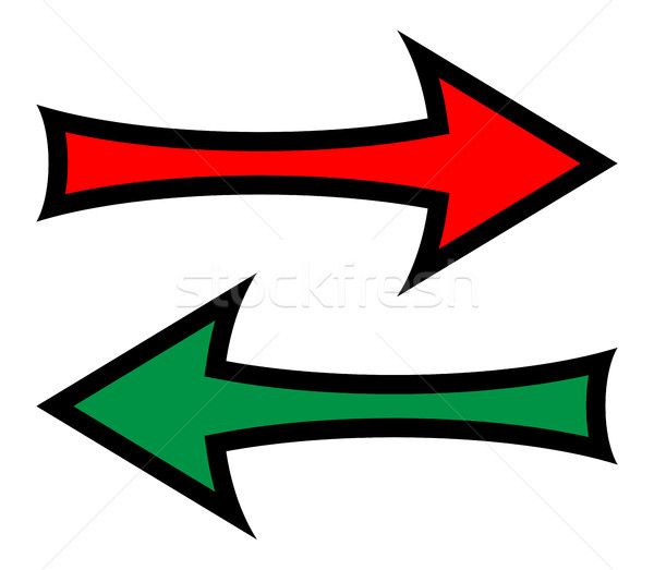 Left And Right Direction Arrows Stock photo © Bigalbaloo