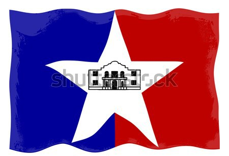 San Antonio City Flag Stock photo © Bigalbaloo