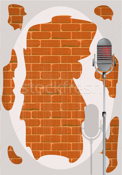 Stand Up Night Wall. Stock photo © Bigalbaloo
