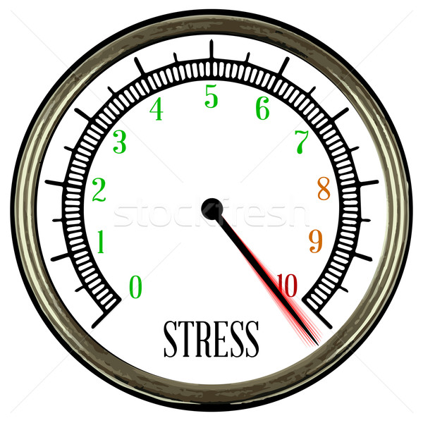 Stress Meter Stock photo © Bigalbaloo