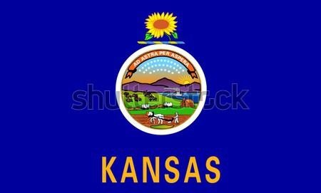 Kansas bayrak grafik Amerika mühürlemek örnek Stok fotoğraf © Bigalbaloo