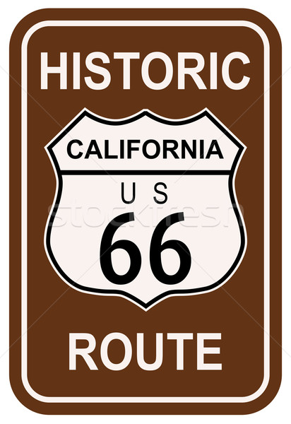 California Historic Route 66 Stock photo © Bigalbaloo