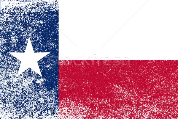 Texas State Flag Grunge Stock photo © Bigalbaloo