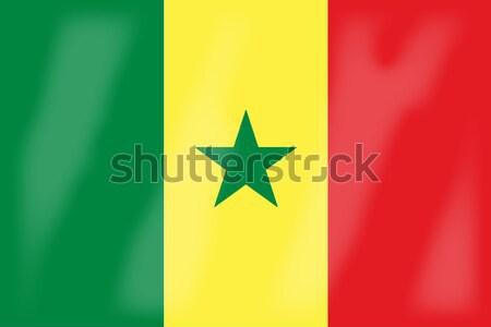 Senegal banderą Afryki kraju sztuki Zdjęcia stock © Bigalbaloo