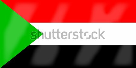 Sudan Flag Stock photo © Bigalbaloo