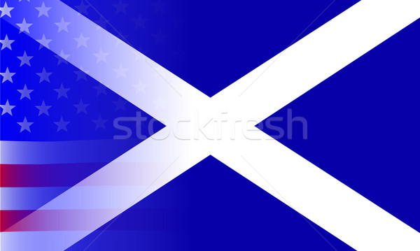 Scottish Flag Stars and Stripes Stock photo © Bigalbaloo