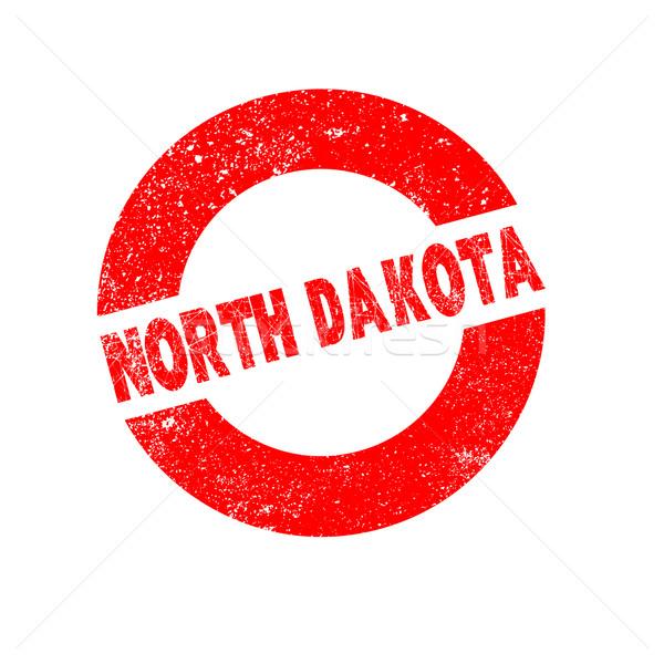 Rubber inkt stempel North Dakota tekst Stockfoto © Bigalbaloo