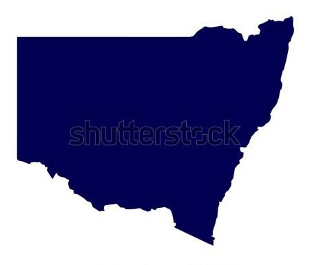 Avustralya yeni güney galler siluet harita avustralya beyaz Stok fotoğraf © Bigalbaloo