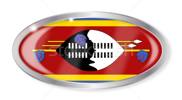 Swaziland Flag Oval Button Stock photo © Bigalbaloo