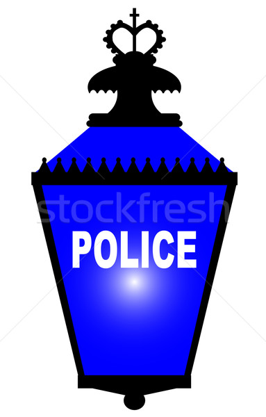 Police Station Blue Light Stock photo © Bigalbaloo