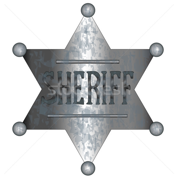 Sheriff Badge Stock photo © Bigalbaloo