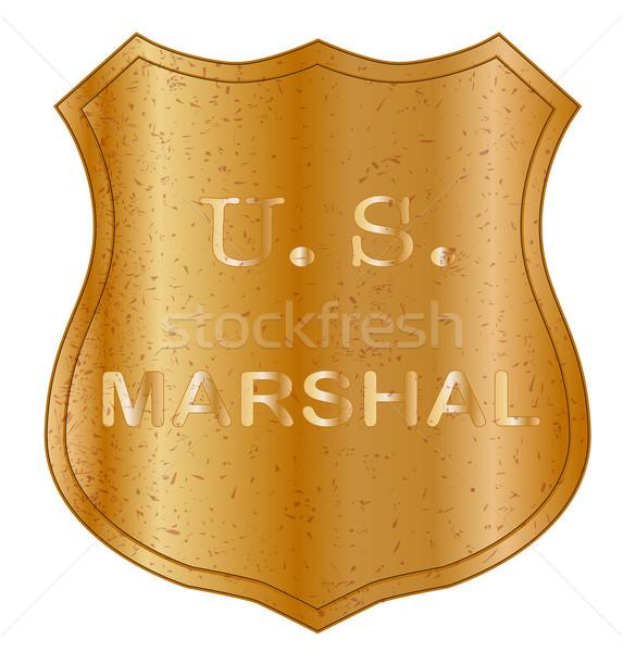 United States MArshal Shield Badge Stock photo © Bigalbaloo