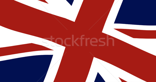 Union jack brits vlag Blauw witte Stockfoto © Bigalbaloo